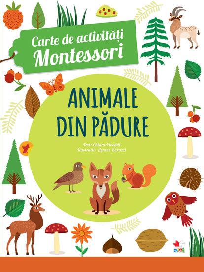 Animale din padure - Carte De Activitati Montessori - cover