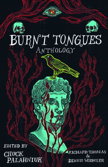 Burnt Tongues Anthology - cover
