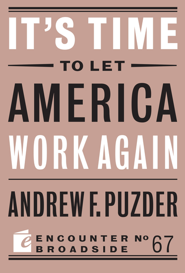 It's Time to Let America Work Again - cover