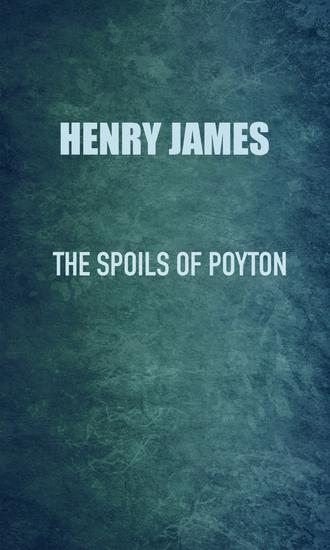 The Spoils of Poynton - cover