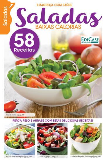 Emagreça Com Saúde Ed 6 - Saladas Baixas Calorias - cover