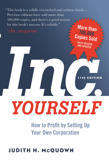 Inc Yourself 11th Edition - How to Profit by Setting Up Your Own Corporation - cover