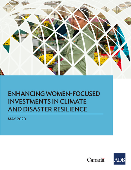 Enhancing Women-Focused Investments in Climate and Disaster Resilience - cover