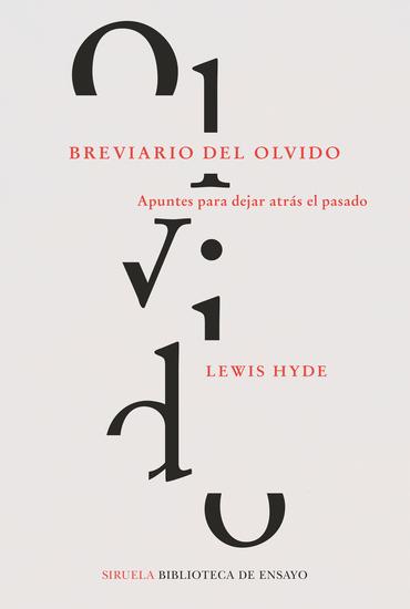 Breviario del olvido - Apuntes para dejar atrás el pasado - cover