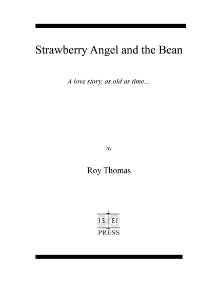 Strawberry Angel and the Bean -ebook - A love story as old as time - cover