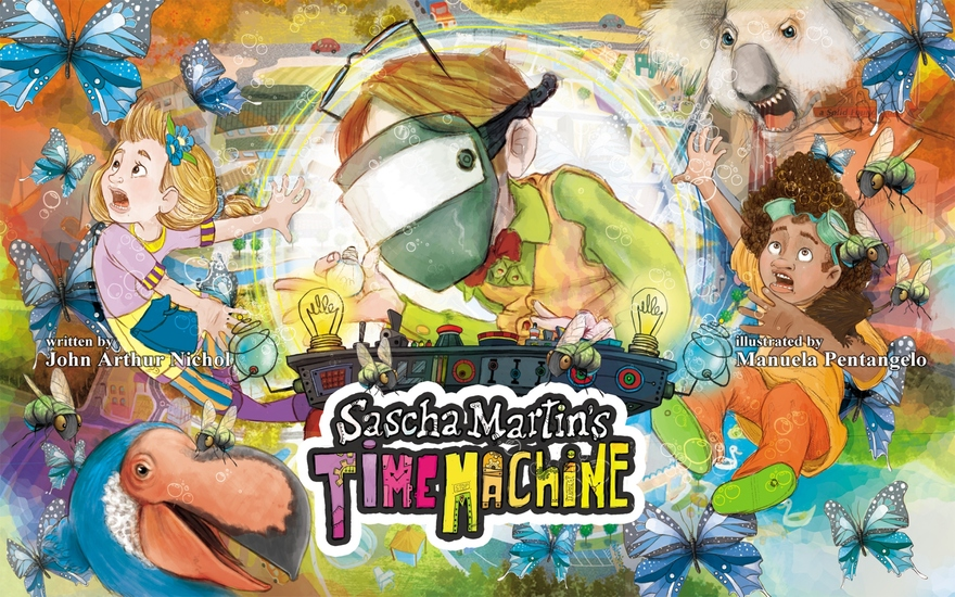 Sascha Martin's Time Machine - A kids' sci-fi misadventure that will have you in stitches It's funny too - cover
