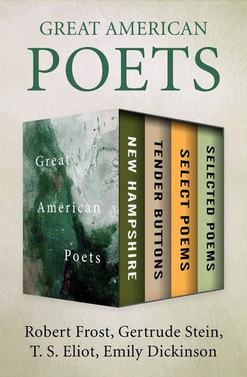 Great American Poets - New Hampshire Tender Buttons Select Poems and Selected Poems - cover