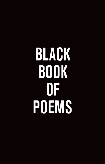 Black Book of Poems - cover