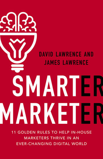 Smarter Marketer - 11 Golden Rules to Help in-House Marketers Thrive in an Ever-Changing Digit - cover
