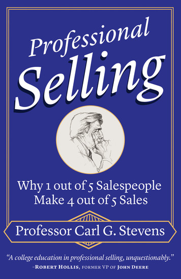 Professional Selling - Why 1 out of 5 Salespeople Make 4 out of 5 Sales - cover