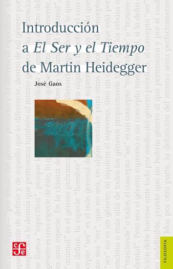 Introducción a El Ser y el Tiempo de Martin Heidegger - cover