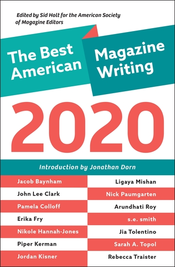 The Best American Magazine Writing 2020 - cover