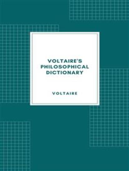 Voltaire's Philosophical Dictionary - cover