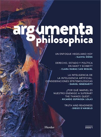 Argumenta Philosophica 2020 - Vol 1 - cover