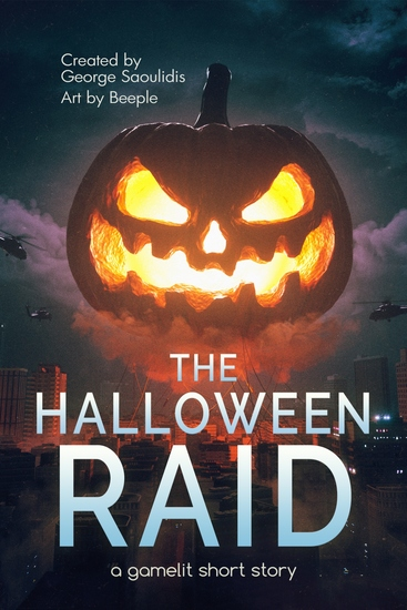 The Halloween Raid - A GameLit Short Story - cover