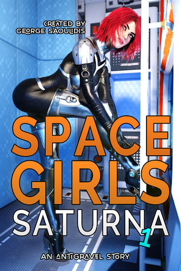 Space Girls: Saturna 1 - an antigravel story - cover