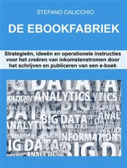 De ebookfabriek - Strategieën ideeën en operationele instructies voor het creëren van inkomstenstromen door het schrijven en publiceren van een e-boek - cover