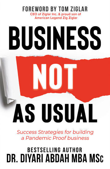 Business NOT as Usual - Success Strategies for Building a Pandemic Proof Business - cover