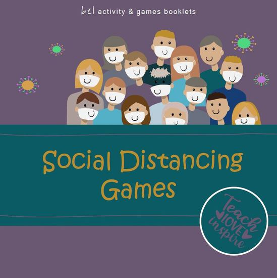 Social Distancing Games - Teach - Love - Inspire bel activity + games booklets - cover