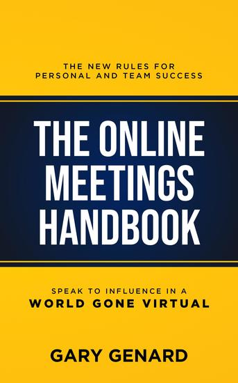 The Online Meetings Handbook - The New Rules for Personal and Team Success - cover