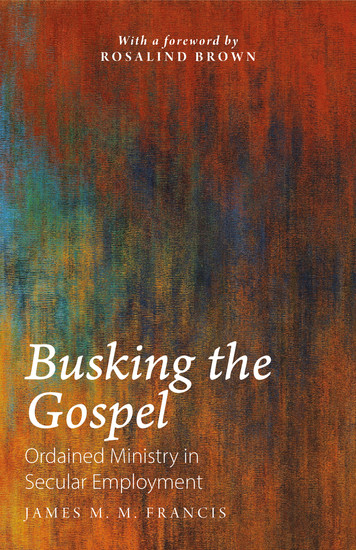 Busking the Gospel - Ordained Ministry in Secular Employment - cover