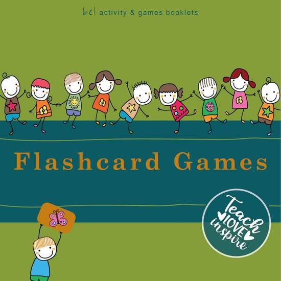 Flashcard Games - Teach - Love - Inspire bel activity + games booklets - cover