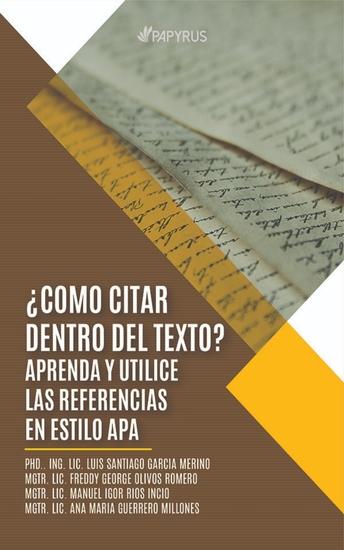 ¿Cómo citar dentro del texto? - Aprenda y utilice las referencias en estilo APA - cover