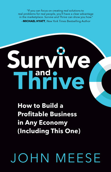 Survive and Thrive - How to Build a Profitable Business in Any Economy (Including This One) - cover