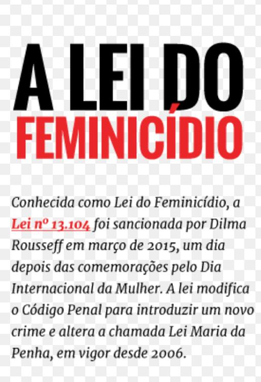 A Lei do Feminicídio - cover