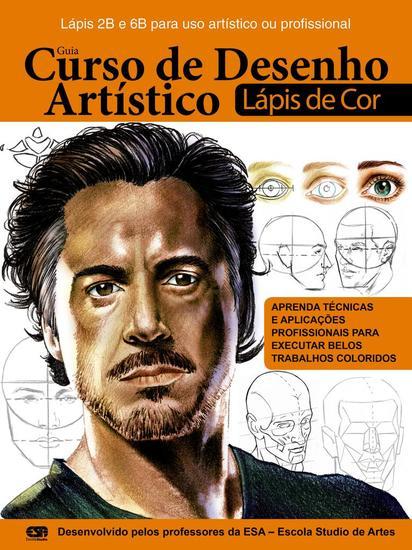 Guia Curso de Desenhos Artístico Rosto - Tecnica Lápis de Cor - cover