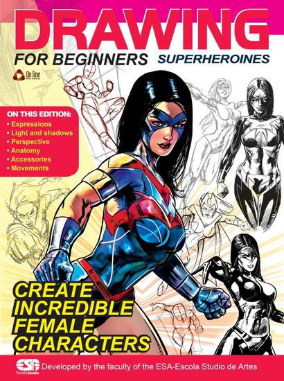 Drawing For Beginners (Superheroines) - Drawing For Beginners - cover