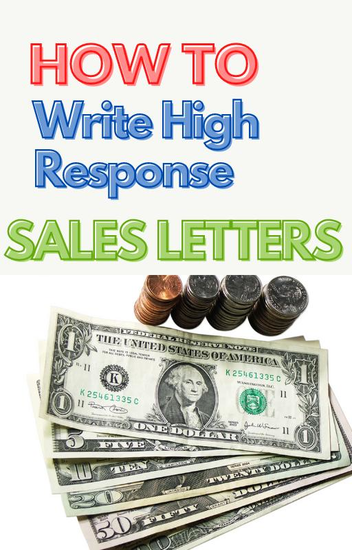 High Response Sales Letter - cover