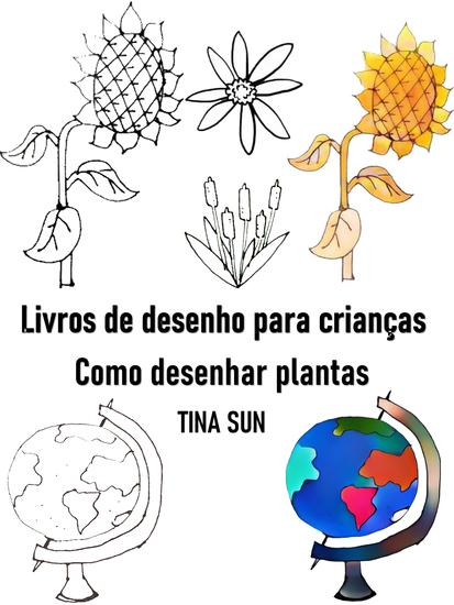 Livros de desenho para crianças:Como desenhar plantas - cover