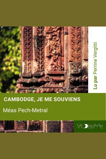 Cambodge je me souviens - cover