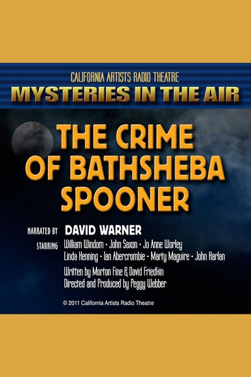 The Crime of Bathsheba Spooner - Mysteries in the Air - cover