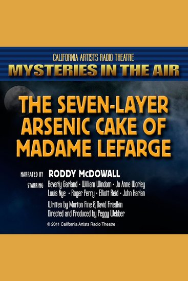 The Seven-Layer Arsenic Cake Of Madame Lefarge - cover