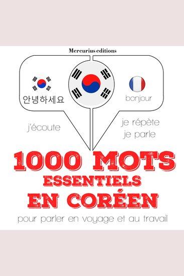 1000 mots essentiels en coréen - cover
