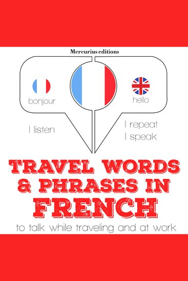 Travel words and phrases in French - cover