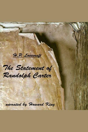 The Statement of Randolph Carter - Ungekürzt - cover