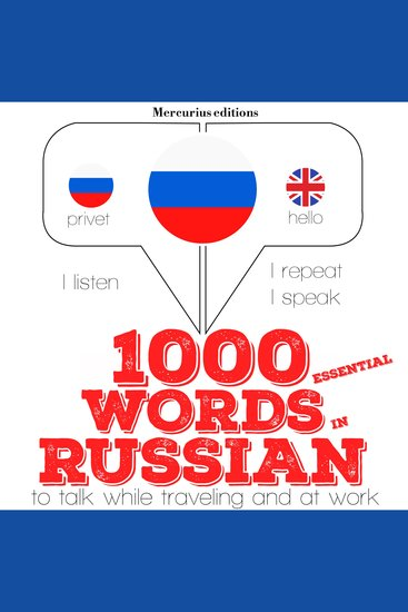 1000 essential words in Russian - cover