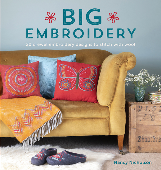Big Embroidery - 20 Crewel Embroidery Designs to Stitch with Wool - cover