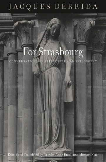 For Strasbourg - Conversations of Friendship and Philosophy - cover