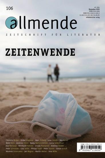 106 Ausgabe der allmende – Zeitschrift für Literatur - Zeitenwende - cover