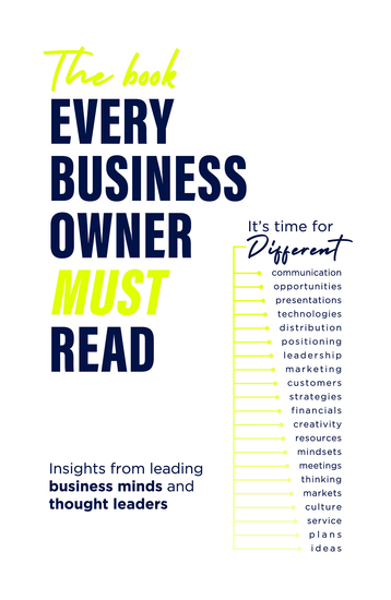 The Book Every Business Owner Must Read - It's Time for Different - cover