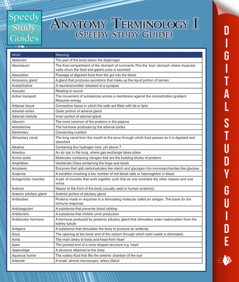 anatomy study guide unit 1 Anatomy & physiology unit 1 study guide chapter 1: human body orientation 1 anatomy: study of the structure and shape of the body and its parts gross- large structures, easily observable microscopic- very small, can only be viewed w/microscope 2.