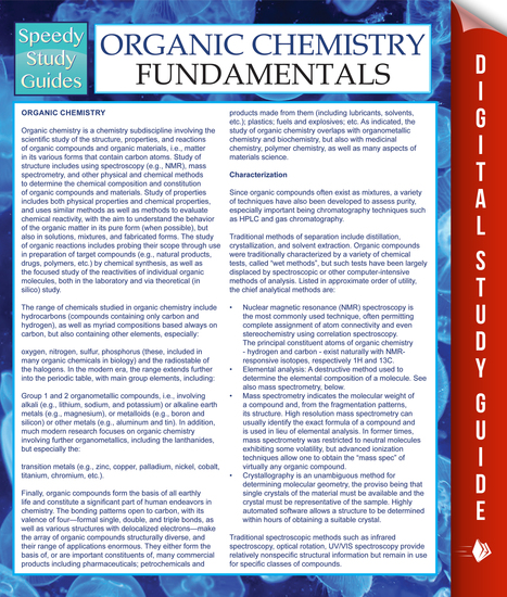 Organic Chemistry Fundamentals Study Guide - cover