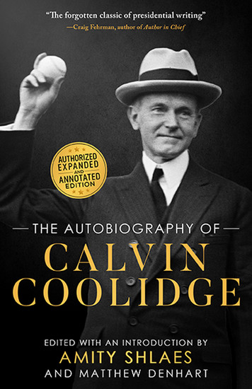 The Autobiography of Calvin Coolidge - cover