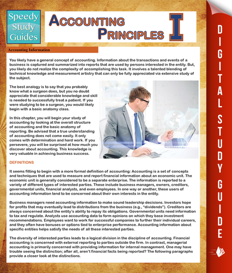 Accounting Principles 1 (Speedy Study Guides) - cover
