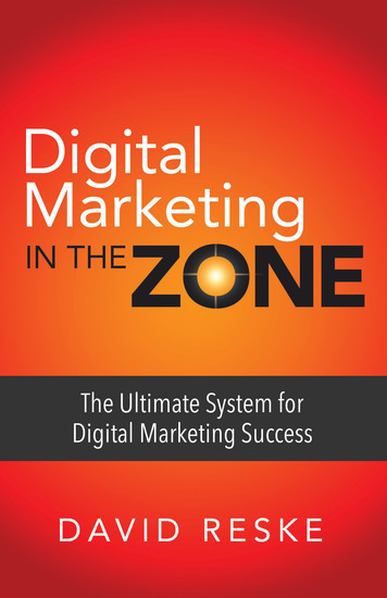 Digital Marketing in the Zone - The Ultimate System for Digital Marketing Success - cover