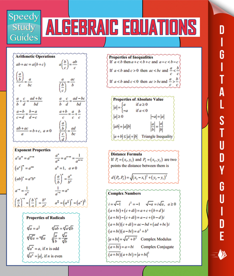 Algebraic Equations (Speedy Study Guides) - cover